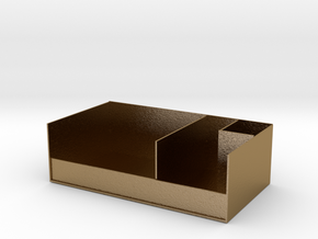 Receiving box in Polished Gold Steel