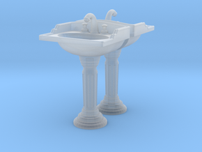 Toilet Sink Ver02. 1:48 Scale in Smooth Fine Detail Plastic