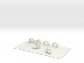 Slippers carpet  in White Natural Versatile Plastic