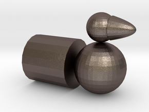 Tanabata in Polished Bronzed-Silver Steel