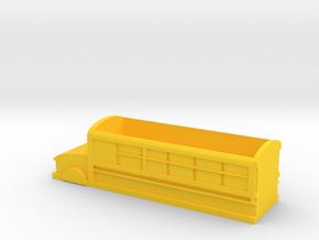 School bus shape storage box in Yellow Processed Versatile Plastic