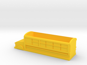 School bus shape storage box in Yellow Processed Versatile Plastic