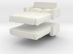Sofa Bed (x2) 1/100 in White Natural Versatile Plastic
