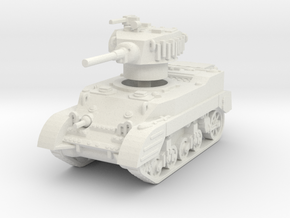M5A1 Stuart late 1/87 in White Natural Versatile Plastic