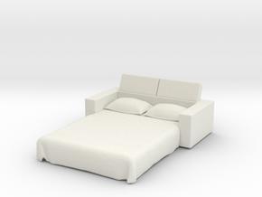 Sofa Bed 1/24 in White Natural Versatile Plastic