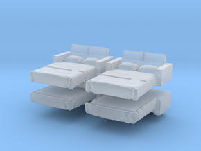 Sofa Bed (x4) 1/285 in Smooth Fine Detail Plastic