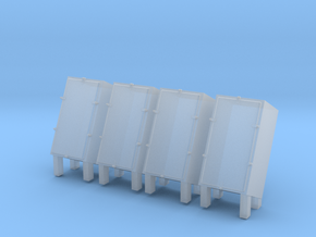 1/96 USS Forward Hedgehog Thrower Ammo Lockers in Smooth Fine Detail Plastic