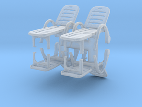 Deck Chair (x4) 1/76 in Smooth Fine Detail Plastic