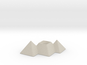 Great Pyramids Pencil Holder in Natural Sandstone