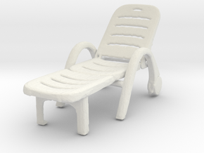 Deck Chair 1/35 in White Natural Versatile Plastic