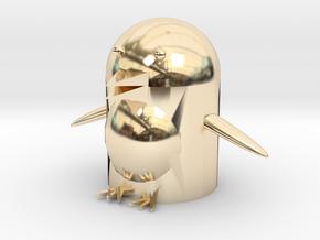 Penguin trash in 14K Yellow Gold: 6mm