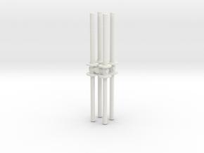 Traffic Pylon (x8) 1/35 in White Natural Versatile Plastic
