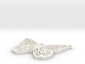 Butterfly earring in White Natural Versatile Plastic
