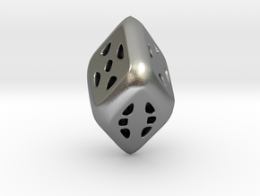D6 Diamond in Natural Silver