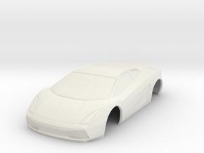 Lamborghini Gallardo MiniZ 94mm in White Natural Versatile Plastic