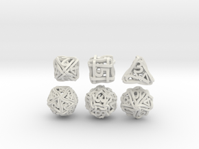 Loops Dice in White Natural Versatile Plastic