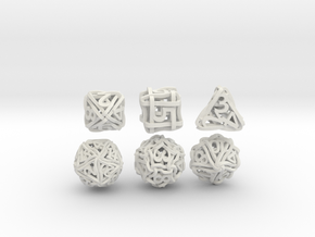 Loops Dice - Small in White Natural Versatile Plastic