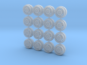 GTI Snowflakes 8mm Dia - 4 sets in Smoothest Fine Detail Plastic