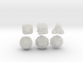Loops Dice - Small in Smooth Fine Detail Plastic