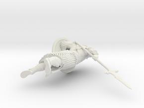 Ancient warrior 54mm in White Natural Versatile Plastic