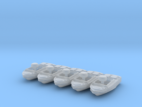 1/600 Scale Seal Support Craft Set Of 5 in Smooth Fine Detail Plastic