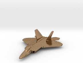 F-22 Raptor (large) in Natural Brass