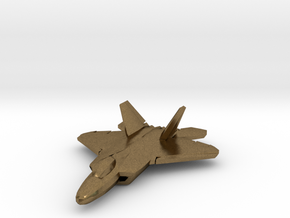 F-22 Raptor (small) in Natural Bronze