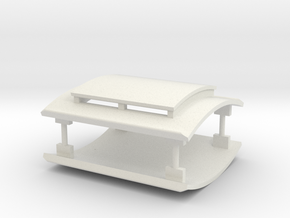 LBSCR (I 3) Roof Set in White Natural Versatile Plastic