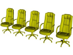 1/48 scale office chairs set A x 5 in Smooth Fine Detail Plastic