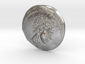 Ancient Roman Coin in Natural Silver