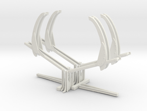 2 lots 1-100th Scale Davit Support Assemblys in White Natural Versatile Plastic