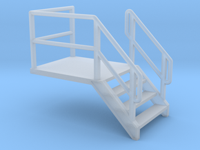 HO Door Stairs 9.3mm in Smooth Fine Detail Plastic