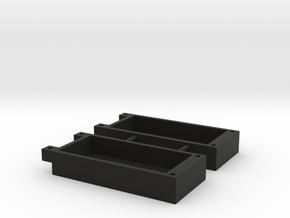 LED-Cap-Set-2 in Black Natural Versatile Plastic