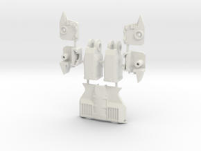 TF WFC Siege - Slipstream Parts in White Natural Versatile Plastic