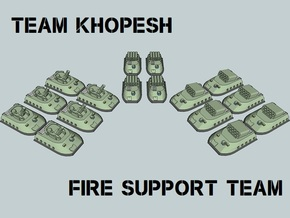 """Team Khopesh"" 3mm GEV Fire Support Team (16pcs) in Smooth Fine Detail Plastic"