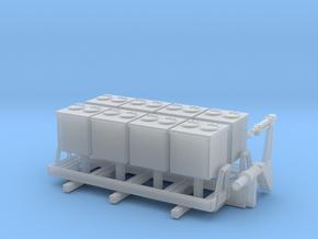 1:120 Aufbau für LKW IFA W50 Müllcontainer Typ 1 in Smooth Fine Detail Plastic