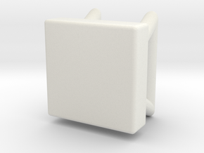 Square Stool in White Natural Versatile Plastic