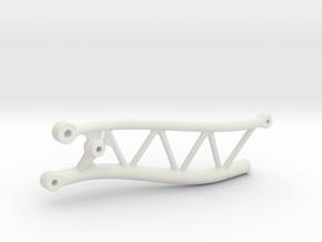 Passenger Side Yeti Jr IRS Subframe in White Natural Versatile Plastic