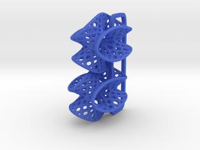 Batwing - Earrings in Nylon in Blue Processed Versatile Plastic