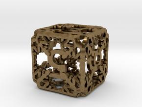 Snowflake Die in Natural Bronze