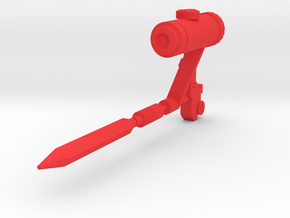 Perceptor Action Master Weapons in Red Processed Versatile Plastic
