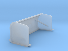 1/87th Snow Pusher Blade for Skid Steers in Smooth Fine Detail Plastic