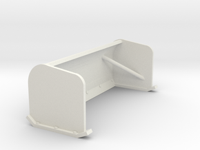 1/50th Snow Pusher Blade for Skid Steers in White Natural Versatile Plastic