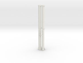 1:6 90mm & 70mm AT Rocket Launcher in White Natural Versatile Plastic