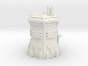 Hex Based Armored Outpost - 6mm Scale in White Natural Versatile Plastic