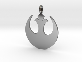 Star wars rebel badge pendant in Fine Detail Polished Silver