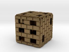 Brick Die in Natural Bronze