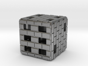 Brick Die in Natural Silver