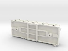 S USMRR GONDOLA in White Natural Versatile Plastic