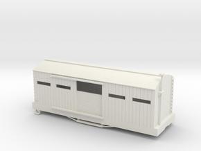 S USMRR ARMORED BOXCAR in White Natural Versatile Plastic